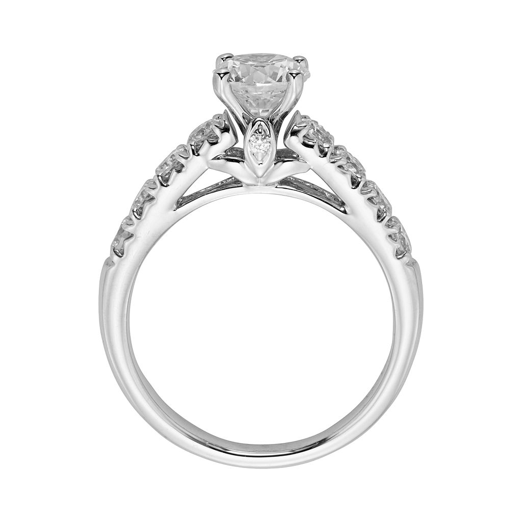 Round-Cut IGL Certified Diamond Engagement Ring in 14k White Gold (1 3/4 ct. T.W.)