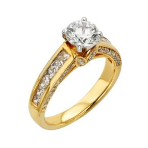 Round-Cut IGL Certified Diamond Engagement Ring in 14k Gold (2 ct. T.W.)
