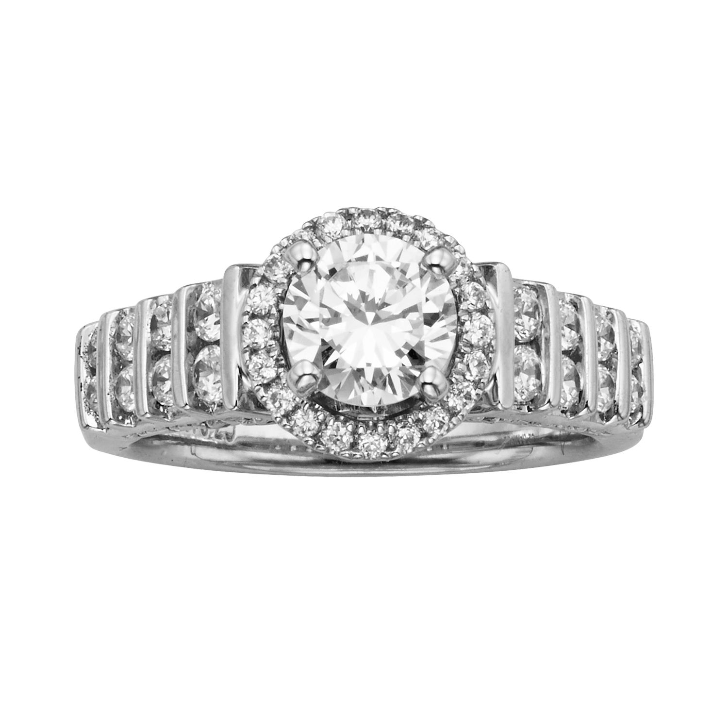 Baguette And Round Wedding Band 35 Awesome Round Cut IGL Certified