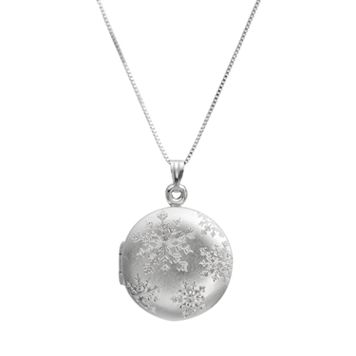 Sterling Silver Snowflake Locket