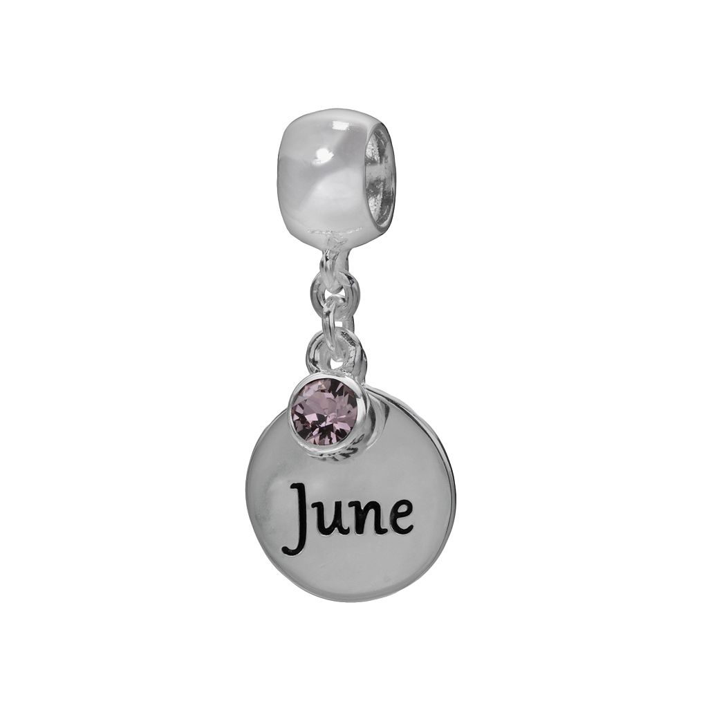 Individuality Beads Sterling Silver & Crystal Birthstone Charm