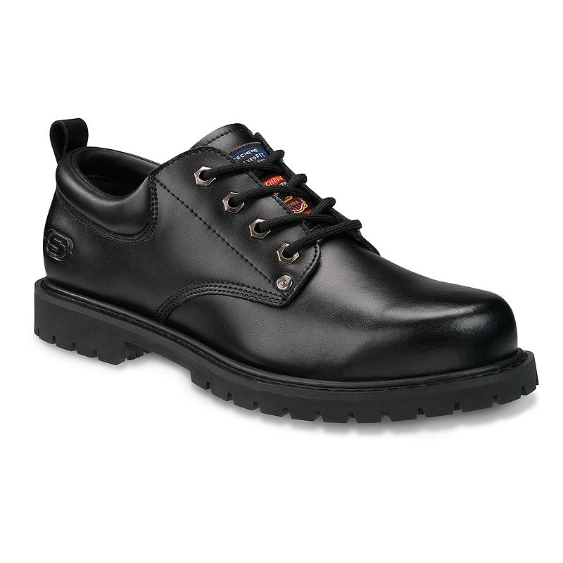 Skechers Black Fribble Relaxed Fit Oxford Work Shoes - Men