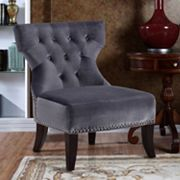 Simpli Home Kitchener Velour Accent Chair