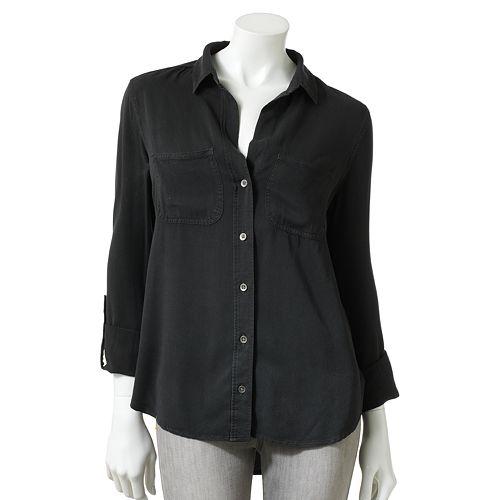Rock & Republic® Roll-Tab Twill Shirt - Women's