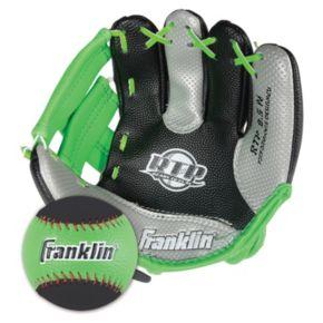 Franklin Air Tech Right Hand Throw Baseball Glove and Ball Set