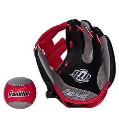 Franklin Air Tech Right Hand Throw Baseball Glove & Ball Set