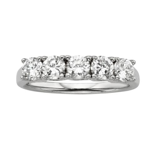 Diamonore Sterling Silver 1-ct. T.W. GGL Certified Simulated Diamond Ring