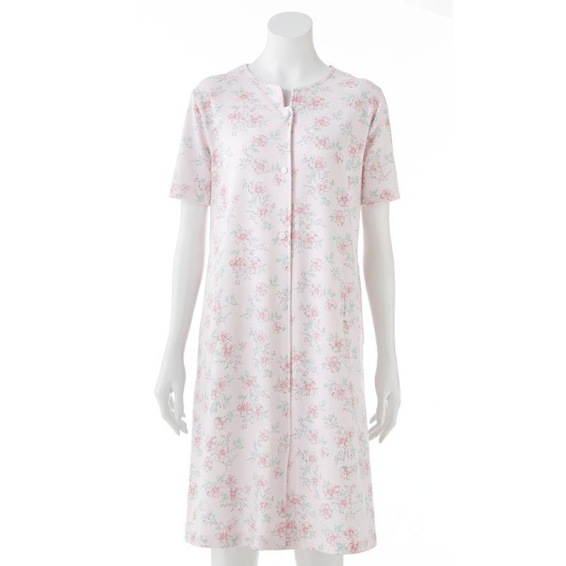 Miss Elaine Essentials Silkyknit Floral Robe - Women's Plus