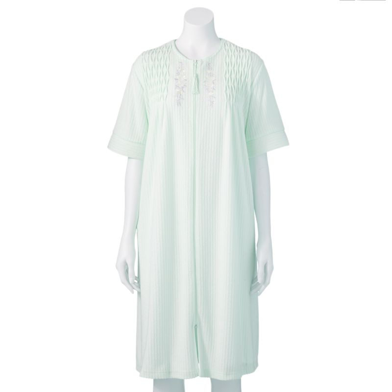 Miss Elaine Essentials Embroidered Robe - Women's Plus