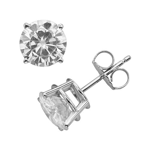 Forever Brilliant 14k White Gold Round-Cut 2 2/5-ct. T.W. Lab-Created Moissanite Stud Earrings