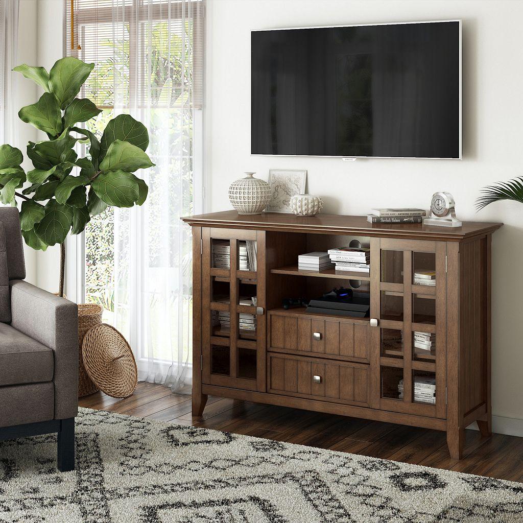 Simpli Home Acadian Brown TV Stand