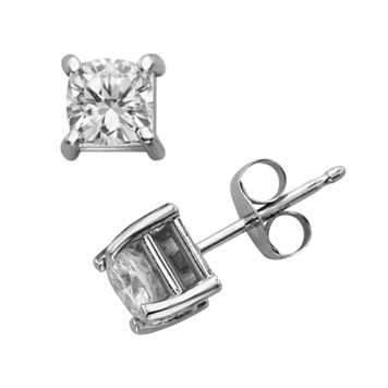 Forever Brilliant 14k White Gold Cushion-Cut 1-ct. T.W. Lab-Created Moissanite Stud Earrings