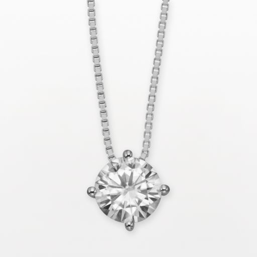 Forever Brilliant 14k White Gold Round-Cut 1-ct. T.W. Lab-Created Moissanite Pendant