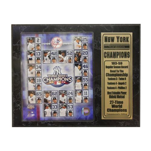 New York Yankees World Series Champions Stat Plaque