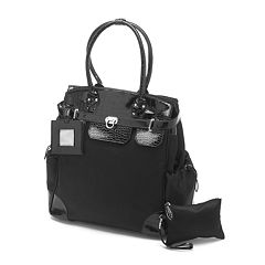 AmeriLeather Skylar Crocodile 17-in. Rolling Tote