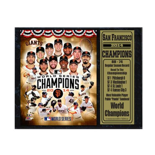 San Francisco Giants Champions Stat Plaque