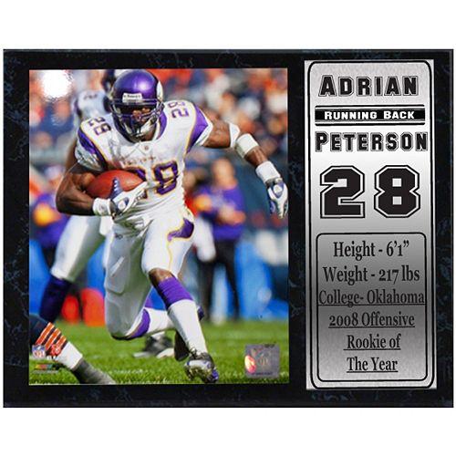 Minnesota Vikings Adrian Peterson Stat Plaque