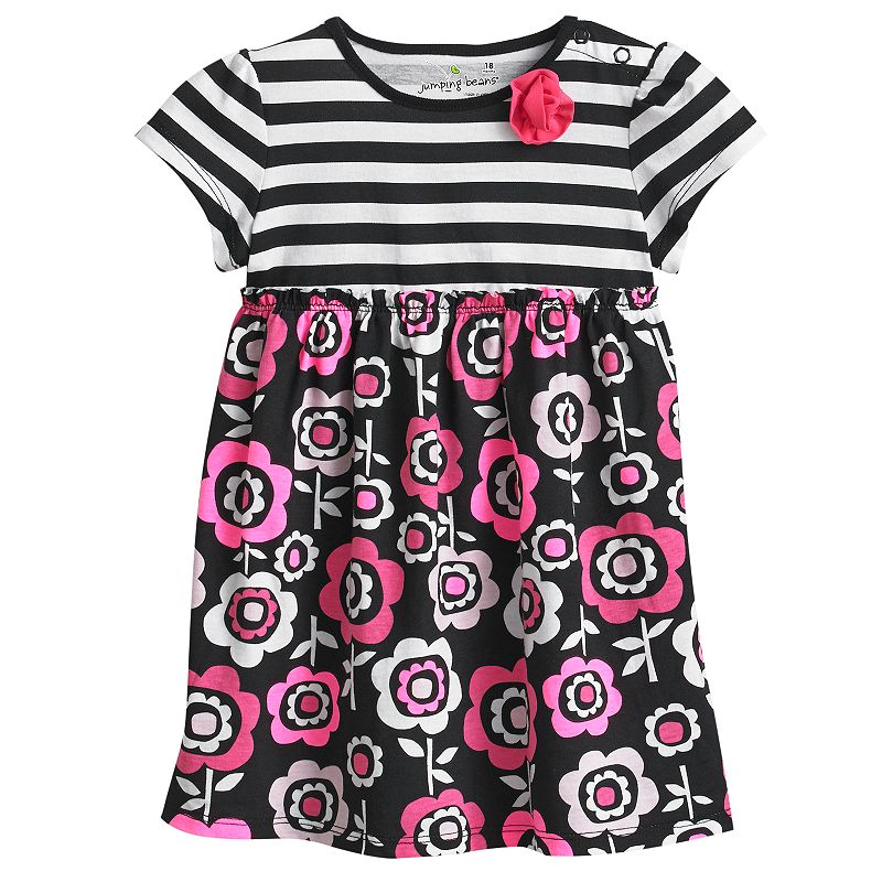 Jumping Beans Striped Floral Dress - Baby