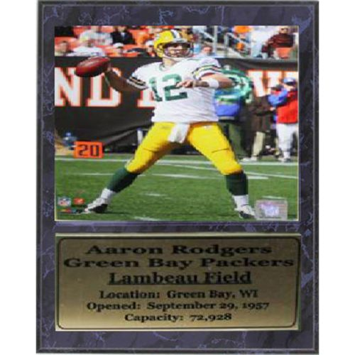 Green Bay Packers Aaron Rodgers Stat Plaque