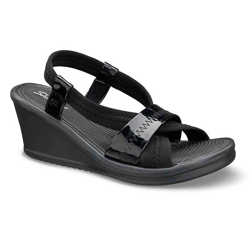 Model   Skechers  Skechers Womens Vinyasa Be Weave It Sandals Black