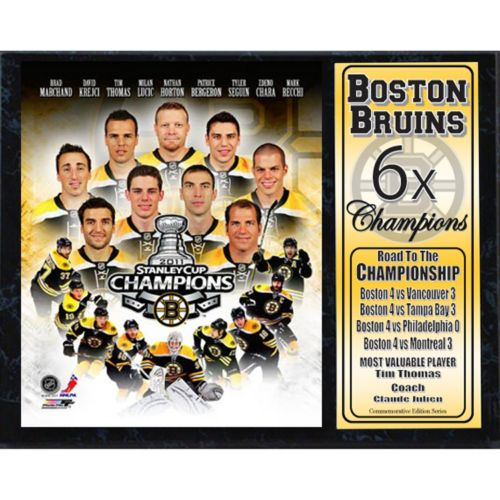 Boston Bruins Champions Stat Plaque
