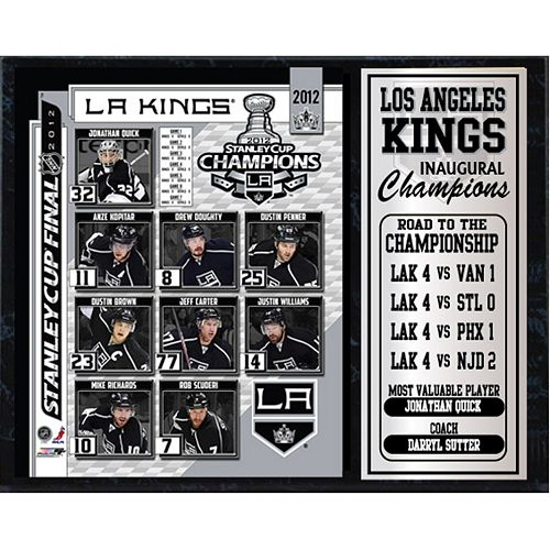 Los Angeles Kings Champions Stat Plaque