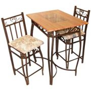 Barcelona 3 pc Bar Height Bistro Set