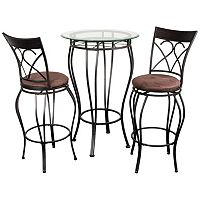 Fancy Bistro 3-pc. Pub Table & Chair Set
