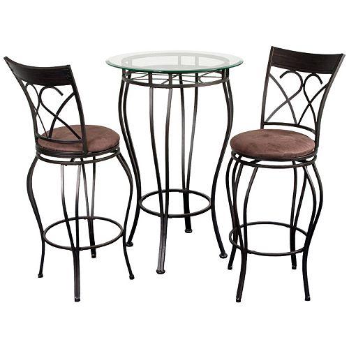 Fancy Bistro 3-pc. Pub Table & Chair Set