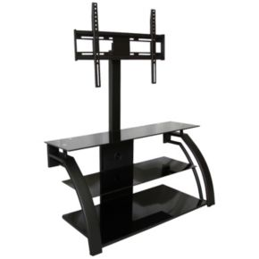 Curved Modern TV Stand with Plasma Mount