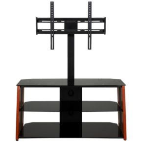 Black Glass TV Stand with Mount