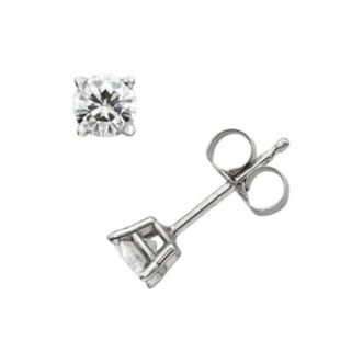 Forever Brilliant 14k White Gold 4/9-ct. T.W. Round-Cut Lab-Created Moissanite Stud Earrings