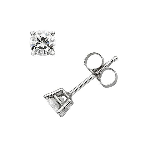 996055a3b Forever Brilliant 14k White Gold 4/9-ct. T.W. Round-Cut Lab-Created ...