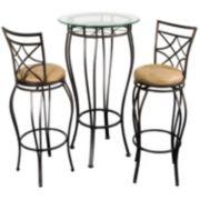 Bistro 3-pc. Pub Table & Chair Set