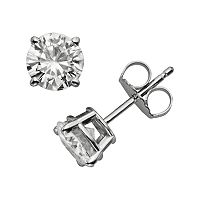 Forever Brilliant 14k White Gold 1 3/5-ct. T.W. Round-Cut Lab-Created Moissanite Stud Earrings