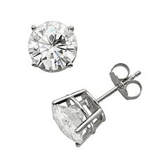Forever Brilliant 14k White Gold 3 4/5 ctT.W. Round-Cut Lab-Created Moissanite Stud Earrings