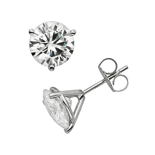 Forever Brilliant 14k White Gold 3 4/5-ct. T.W. Round-Cut Lab-Created Moissanite Stud Earrings