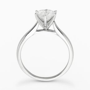 Forever Brilliant Round-Cut Lab-Created Moissanite Engagement Ring in 14k White Gold (1 1/2 ct. T.W.)