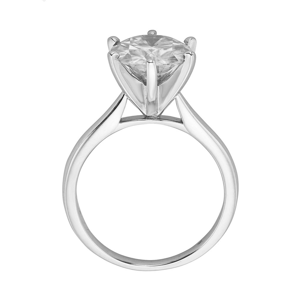 Forever Brilliant Round-Cut Lab-Created Moissanite Engagement Ring in 14k White Gold (3 1/9 ct. T.W.)
