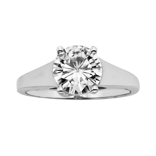 Forever Brilliant Round-Cut Lab-Created Moissanite Engagement Ring in 14k White Gold (1 9/10 ct. T.W.)