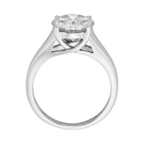 Forever Brilliant Round-Cut Lab-Created Moissanite Engagement Ring in 14k White Gold (3 1/10 ct. T.W.)