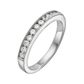 Forever Brilliant 14k White Gold 1/3-ct. T.W. Lab-Created Moissanite Band
