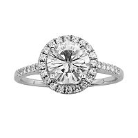 Forever Brilliant Round-Cut Lab-Created Moissanite Engagement Ring in 14k White Gold (1 4/5 ctT.W.)