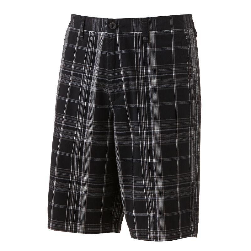 Apt. 9 Plaid Seersucker Flat-Front Shorts - Big and Tall