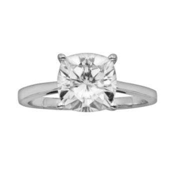 Forever Brilliant Cushion-Cut Lab-Created Moissanite Engagement Ring in 14k White Gold (2 4/5 ct. T.W.)