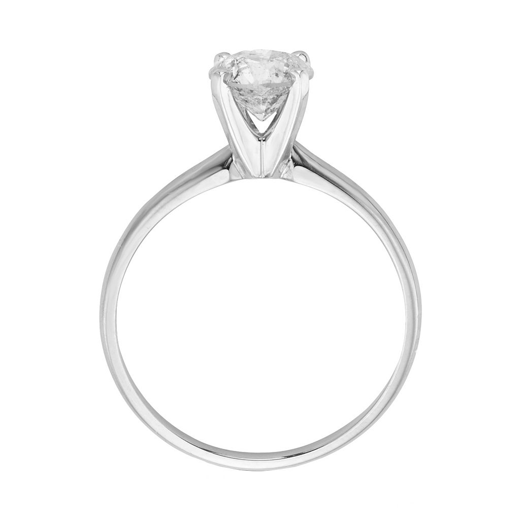 IGL Certified Round-Cut Diamond Solitaire Engagement Ring in 14k White Gold (1 ct. T.W.)