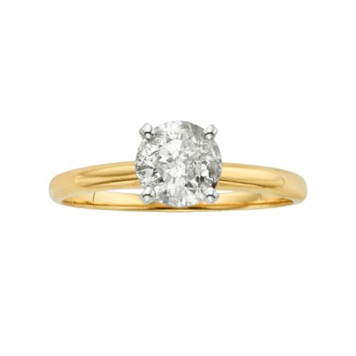 IGL Certified Round-Cut Diamond Solitaire Engagement Ring in 14k Gold (1 ct. T.W.)