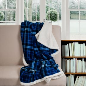 Plaid Fleece and Sherpa Throw