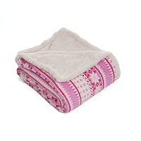 Stars Fleece & Sherpa Throw