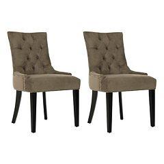 Safavieh 2-piece Abby Mole Gray Side Chair Set